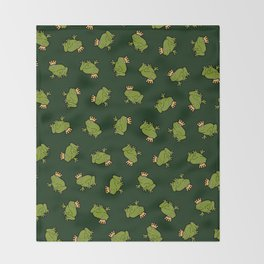 Frog Prince Pattern Throw Blanket