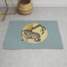 Tiger with magpie type-F : Minhwa-Korean traditional/folk art Rug