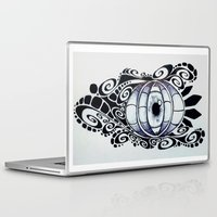 evil eye Laptop & iPad Skins featuring Evil Eye by King Catastropa