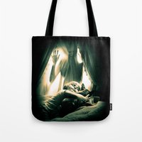 horror Tote Bags featuring Horror by Joe Roberts