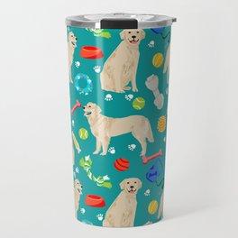 Golden Retriever pet friendly dog breeds dog toys cute dog gifts for dog lovers Travel Mug