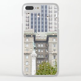 Goddess over San Francisco Clear iPhone Case