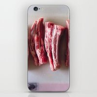 meat iPhone & iPod Skins featuring Meat Meat Meat  by The Avant-Garden