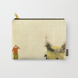 man listening a car burning Carry-All Pouch
