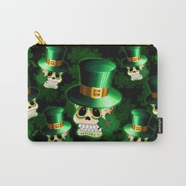 St Patrick Skull Cartoon  Carry-All Pouch