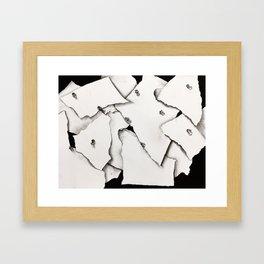 Paper on Paper Framed Art Print