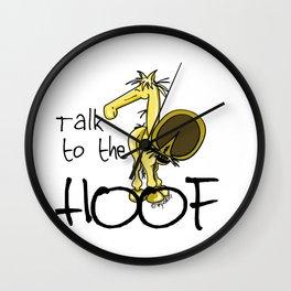 Talk to the Hoof! Wall Clock