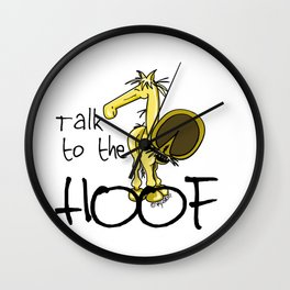 Talk to the Hoof! Wall Clock