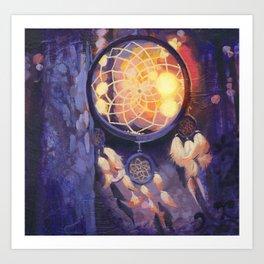 Sunset Dream Catchers  Art Print