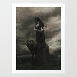 By the Pricking of Her Thumbs Art Print