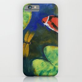 Showa Koi and Dragonfly iPhone Case