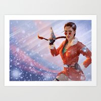 tomb raider Art Prints featuring Tomb Raider: Antarctica by LaraRobsGraves