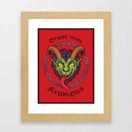 Gruss vom Krampus Framed Art Print