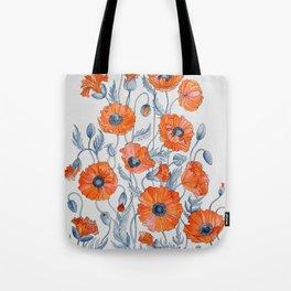 Poppies botanical art Tote Bag