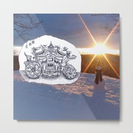 Travel with Mr Snowman Metal Print