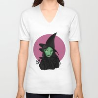 wicked V-neck T-shirts featuring Wicked by Shelby Wolf
