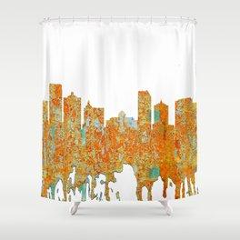 Atlantic City Skyline - Rust Shower Curtain