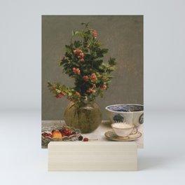 Henri Fantin Latour - Still Life With Vase Of Hawthorn Mini Art Print