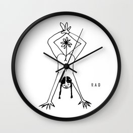 Booty Flower Power Wall Clock