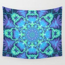 The Aqua Star Mandala Wall Tapestry