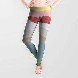 Colorful Ocean Wavy Stripe Painting by Christie Olstad Leggings