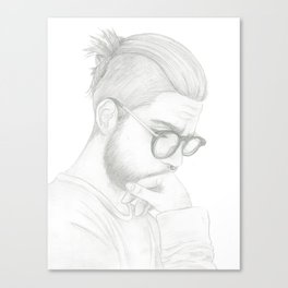 Top Knot Canvas Print