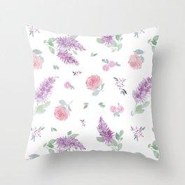 Daphne Floral Watercolor Throw Pillow