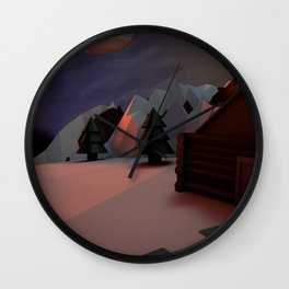 Little Planet House Wall Clock