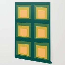 Block Colors - Green Yellow Cream Wallpaper