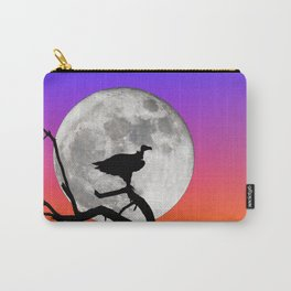 Vulture with Supermoon Carry-All Pouch
