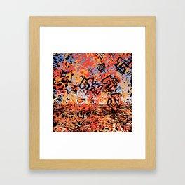 Shattering Sky Framed Art Print