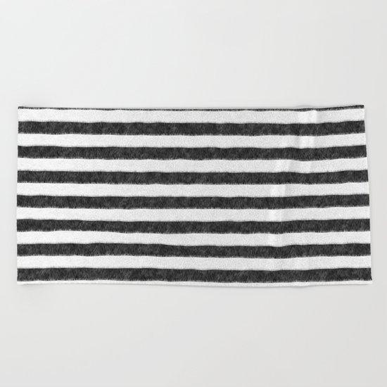 Zebra Fur Pattern Beach Towel