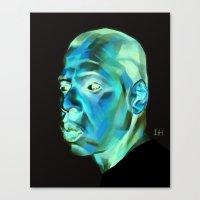 jay z Canvas Prints featuring JAY-Z by nachodraws
