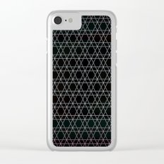 Black Diamonds Clear iPhone Case