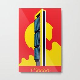 Madrid Bank Tower Metal Print
