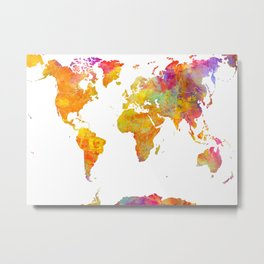 world map 23 Metal Print