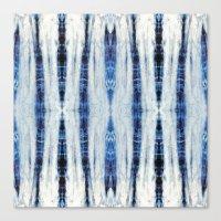 nori Canvas Prints featuring Nori Blue by Nina May Designs