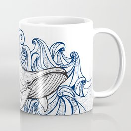 Whale Then Coffee Mug