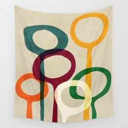 Blowing bubbles Wall Tapestry