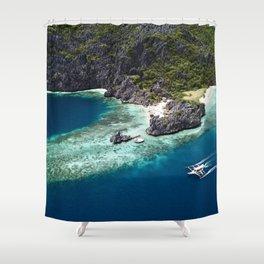 Island hopping around the Philippine Islands Shower Curtain