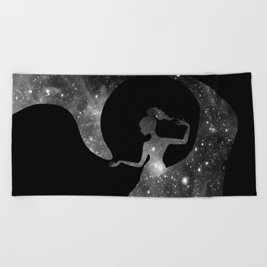Galaxy From Within BNW Beach Towel