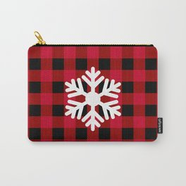 Red Buffalo Check - snowflake - more colors Carry-All Pouch