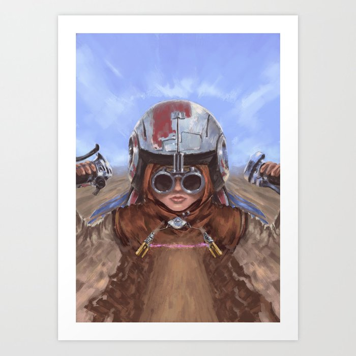 SW Hero Pilot: Anakin Art Print