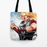 thor Tote Bags featuring Thor by Boisson
