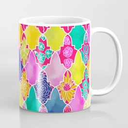 Marrakesh Tiles and Flowers Coffee Mug
