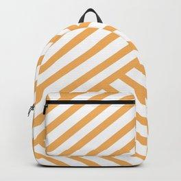Crossing Lines - Orange Backpack