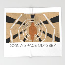 Minimalist 2001: A space odyssey Throw Blanket