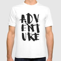 adventure White LARGE Mens Fitted Tee