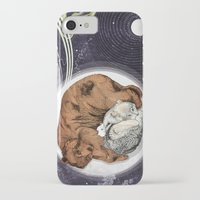 the moon iPhone & iPod Cases featuring Moon by Sandra Dieckmann