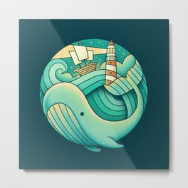 Into the Ocean Metal Print